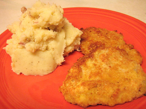 Parmesan Pork Cutlets and Mashed Potatoes