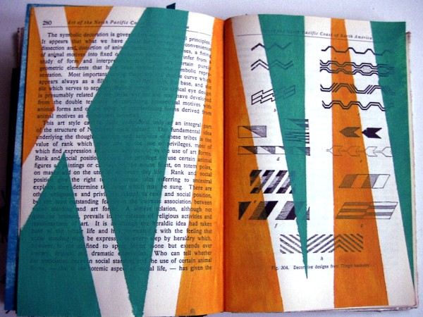 Altered book workbook:  2-page spread