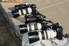 Canons galore (Cujo_Gone_Mad) Tags: camera canon eos is reflex ae1 l 500 70200 f28 f4 hs 30d 1v 100400 f4556 1vhs