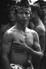 kuat (Farl) Tags: travel portrait bw bali man male indonesia culture tradition hindu denpasar baliartsfestival meped baliartsfestival2008