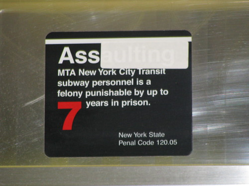 Ass aulting an MTA officer....