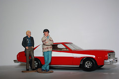Starsky & Hutch...the coolest cops ever! (Claudia Nix) Tags: hot cops hutch 1970s adidas drama starsky coolcar starskyandhutch bellbottoms grantorino davidsoul televisionseries paulmichaelglaser friendlychallenges stripedtomato