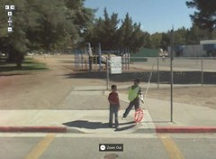 Kids at the Park in Google Street View, San Jose