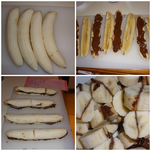 Frozen Bananas with Chocolate-Hazelnut Spread