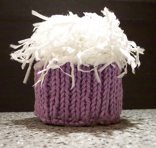 Coconut knitted cupcake