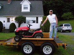 """Mark's """"new"""" tractor from Dad (leeives) Tags: mark mower vt"""