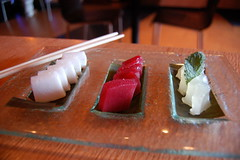 Trio of Solids: 42 Below Haupia, 10 CaneRaspberry Sashimi, Bacardi Effervescent Mojito
