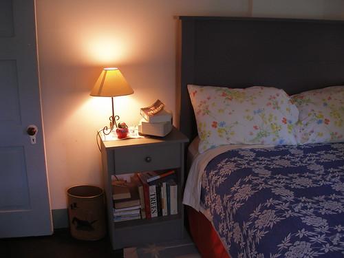 a bedroom corner