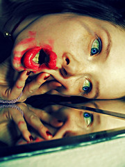 .......pills are my savior........... I (bye bye ) Tags: selfportrait reflection monster lost mirror weird trapped crazy intense scary looking bell witch blueeyes cancer makeup stranger spooky desperate dirt alcohol madness messy stare devil insanity sickness afraid scared dust conceptual nailpolish screaming staring pixels 2008 emotions craziness feelings bitchy yellowteeth lateatnight messedup gasping toomanypills