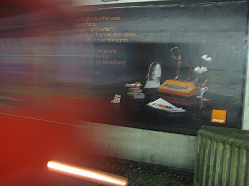Rose Tremain Orange Ad at Hammersmith