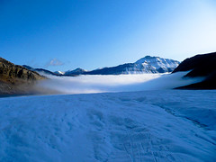 Above the fog. (mike.palic) Tags: ice fog glacier climbing andromeda alpine athabasca