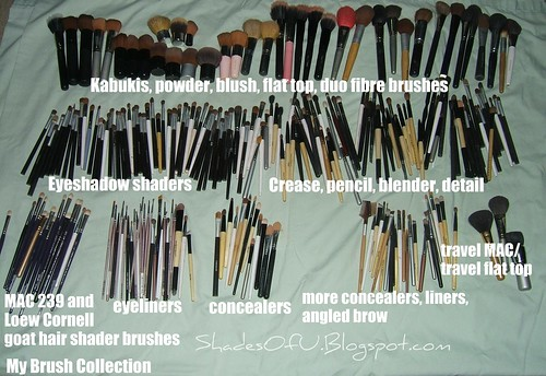 My 240 Makeup Brushes In 2008