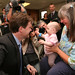 Nick Clegg visiting a nursery during the Lib Dem conference