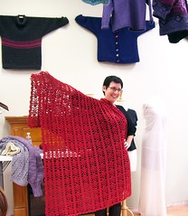 Kim With Crocheted Afghan IC fall 08