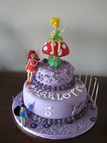 DISNEY Fairy Cake with Tinkerbell, Rosetta and SilverMist