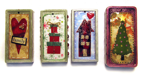 Christmas Domino Ornaments
