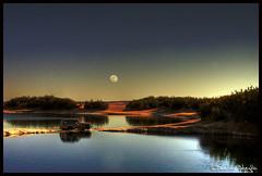 Ain Ed-Debbana Lake ! (Bashar Shglila) Tags: moon lake sahara water desert luna oasis 1001nights libya musictomyeyes ghadames  libyen   lbia libi natureplus mywinners libiya aplusphoto liviya libija diamondstars  bentaher  newworldglobalaward    lbija  lby libja lbya liiba livi