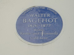 Photo of Walter Bagehot blue plaque