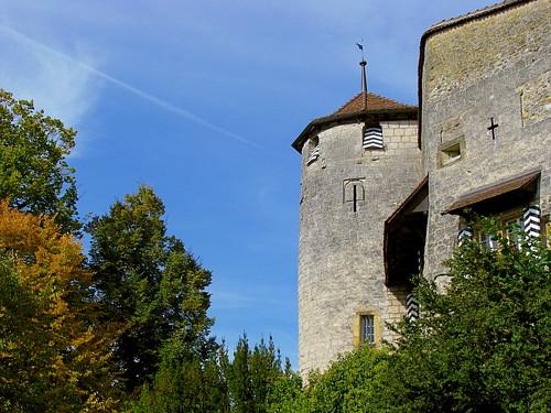 Schloss von Murten / Morat , Kanton Freiburg , Schweiz