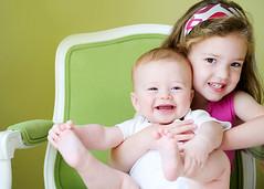 toe grab (kadiwow) Tags: baby girl nikon sister brother naturallight grin inside sibling