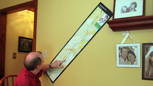 Dad with our Diagonal A.T. Map