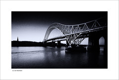 Runcorn Bridge (Ian Bramham) Tags: bridge bw industry photography photo nikon fineart bridges toned merseyside runcornbridge d40 ianbramham
