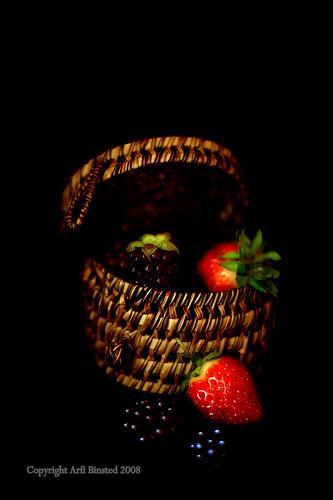 berries in black