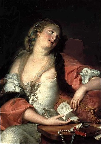Lady Reading the Letters of Heloise and Abelard by you.