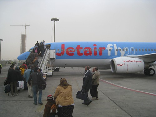 Boarding the Jetairfly flight to Brussels