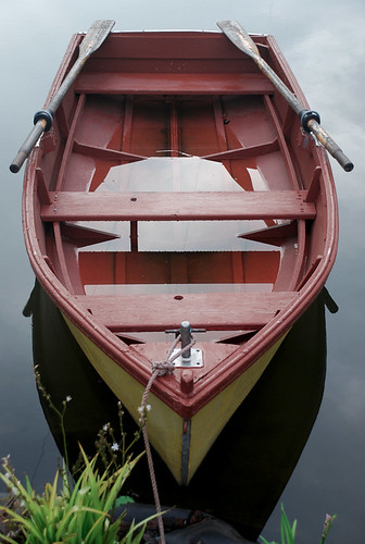 row boat on the lake