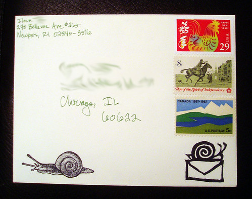 Outgoing 30 Dec snailies with vintage stamps