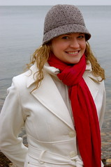 Rachel (taberandrew) Tags: winter red ny newyork beach scarf facebook easthampton rachelw suffolkcountyny facebook:aid=2257701 facebook:user=7801049