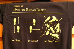 learn how to breakdance tee-shirt