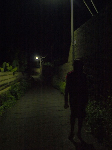 The lonely walk home