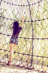 Caged bird (melancholik) Tags: woman girl ballerina caged satoko