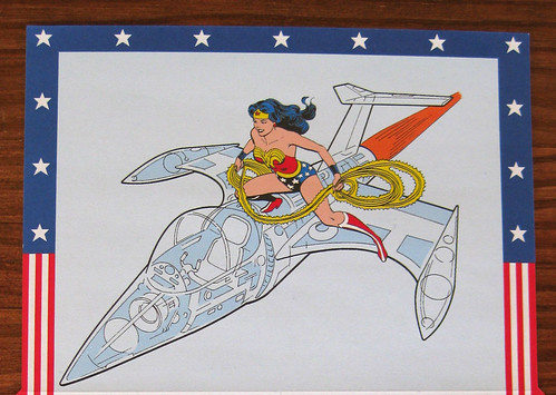 Wonder Woman fold and mail, closeup