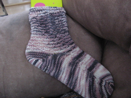 Leyburn Sock in STR Pink Granite Mediumweight