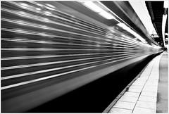 The Express (Stefan Elf) Tags: metal silver reflections vanishingpoint platform motionblur tiles freehand 1735mmf28d departing x2000 nikond200 expresstrain nikkor1735mmf28 stockholmcentralstation printsavailableonrequest