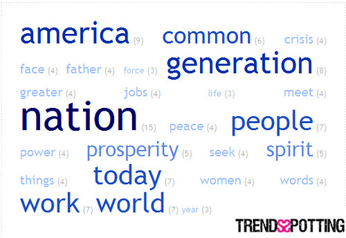 3212558221 1e138edf9d Web 2.0 Brand Study: Top 25 Words In Obamas Inauguration Day Speech