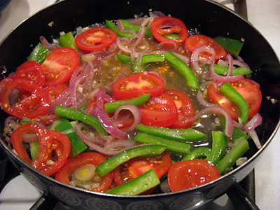 baked halibut veg