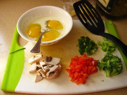 omelet prep
