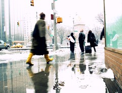 "IN THE RAIN (3 of 3):  ""Yellow boots"" (Sion Fullana) Tags: newyork rain yellow reflections lumix lluvia rainyday boots streetphotography columbuscircle reflexions allrightsreserved reflejos yellowboots atouchofcolor panasonicdmcfz50 colourartaward sionfullana raininnewyork sionfullanasphotography womanwithyellowboots sionfullana"