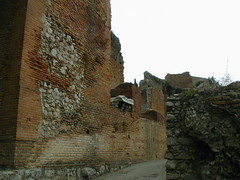 Approach to the Greek Theater of Taormina