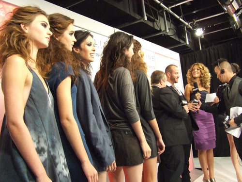 models wait to find out who won