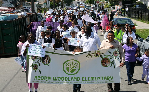 Marching for Environmental Justice at Love Yo Mama Earth Day in East Oakland