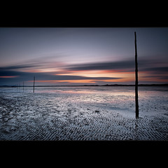 | (Reed Ingram Weir) Tags: longexposure sunset sand looking northwest 24mm nikkor posts holyisland pilgrim 10stop leefilters bigstopper reedingramweir wwwreedingramweircouk