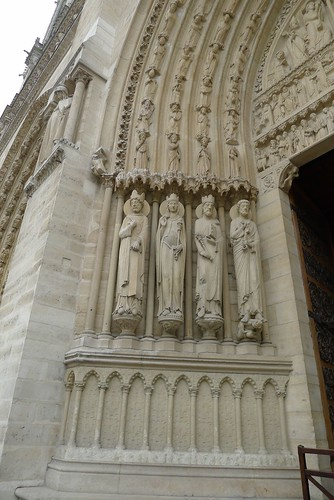 Entrance Carvings at Notre Dame