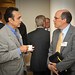 Ray Eshraghi of Microcell (left) chats with Dan Gregory of Green Energy Corp. (right).