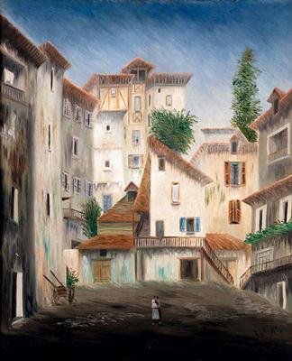 Vue de village - Elie Lascaux