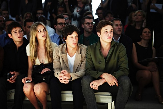 9c - frontrow Julian Morris, Cara Delevingne, Rob Pryor and Jake Cooper